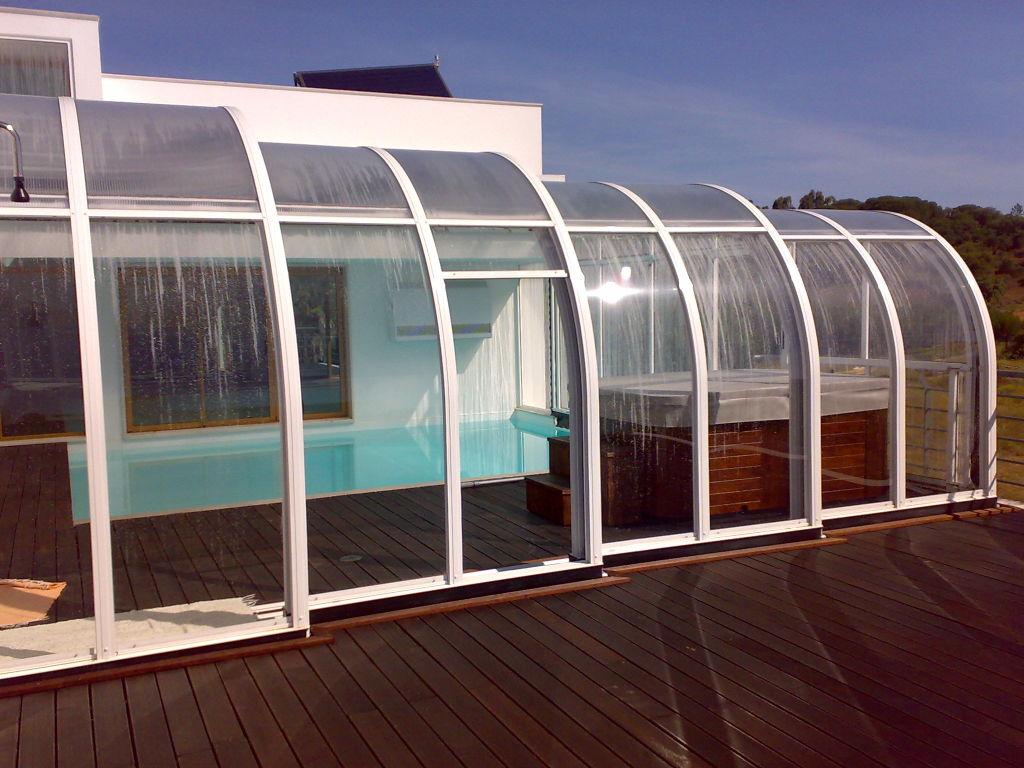 Cobertura telescópica para piscina